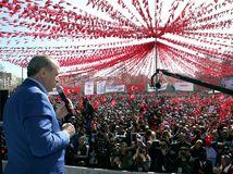 Recep Tayyip Erdogan, príhovor, politik, zhromaždenie, Turecko, Gaziantep