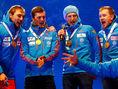ruskí biatlonisti, Alexej Volkov, Maxim Cvetkov, Anton Babikov, Anton Šipulin