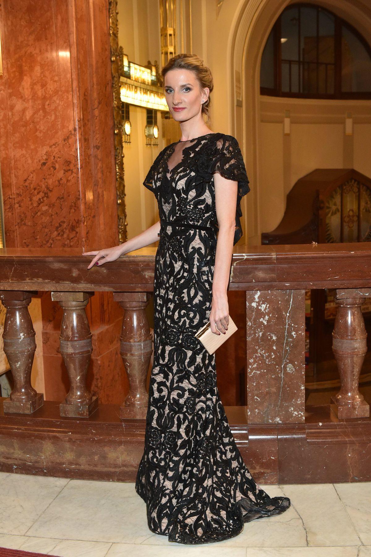 Moderátorka Adela Banášová bola tentoraz veľmi elegantná.