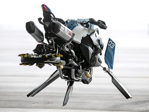 Koncept lietajúcej motorky je len dizajnérskou kreáciou. V skutočnosti sa vznášať nevie.