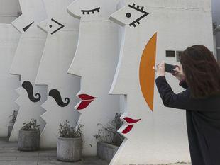 sochy, tváre, umenie, toalety