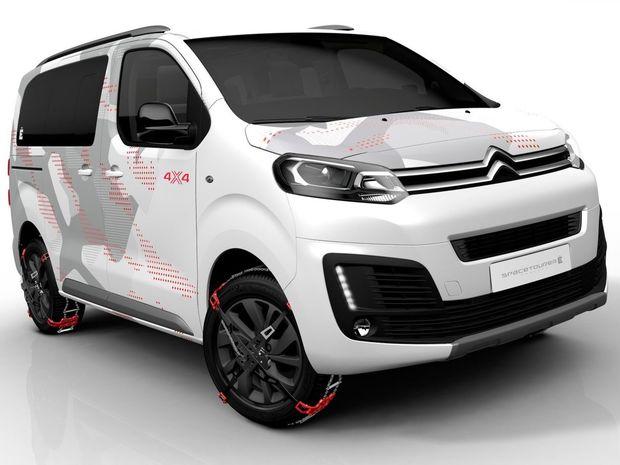 Ženevský koncept Citroën SpaceTourer Ë je terénnou dodávkou, ktorá by mohla v ponuke automobilky zastúpiť chýbajúce SUV. Vychádza zo sériového SpaceToureru s pohonom oboch náprav. Má však o 60 mm zvýšený podvozok.