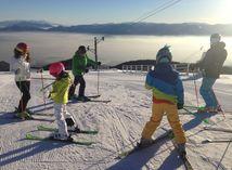 zima, lyžovačka, deti, lyžovanie,