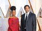 Nominovaný Denzel Washington a jeho manželka Pauletta Washington.