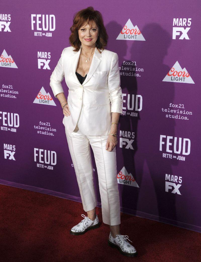 Susan Sarandon na premiére seriálu Feud v Los Angeles.