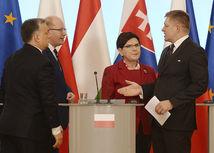 Vyšehrádska štvorka, Fico, Orbán, Szydlová, Sobotka, V4