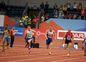Ján Volko (druhý zľava) počas finálového behu na 60 m na halových ME v Belehrade.