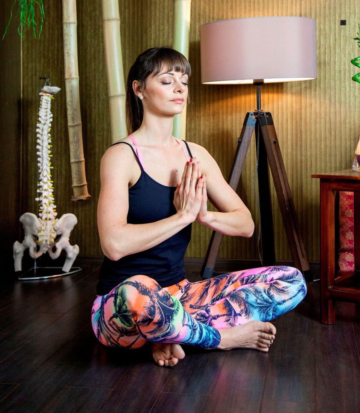 Katarína Ježovicová, cvičiteľka jogy.