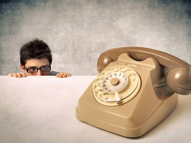 muž, telefón, strach