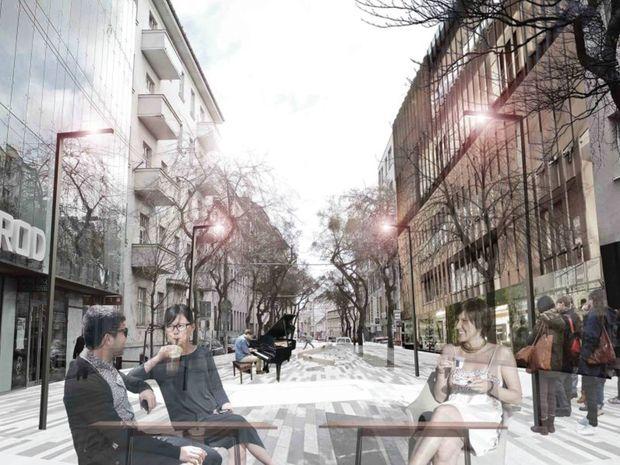Radikálny názor, ktorý predpokladá úplné vylúčenie dopravy z Mickiewiczovej a vytvorenie pešej zóny. K skvalitneniu prostredia prispeje aj zastavanie prieluk kvalitnou architektúrou.
