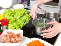 šalát, varenie, zdravá strava