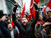 turecko, holandsko, protest