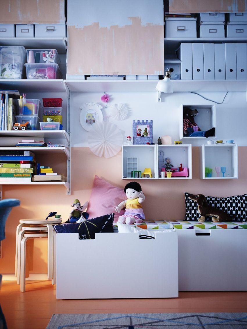 Modulový nábytok do detskej izby, Ikea.