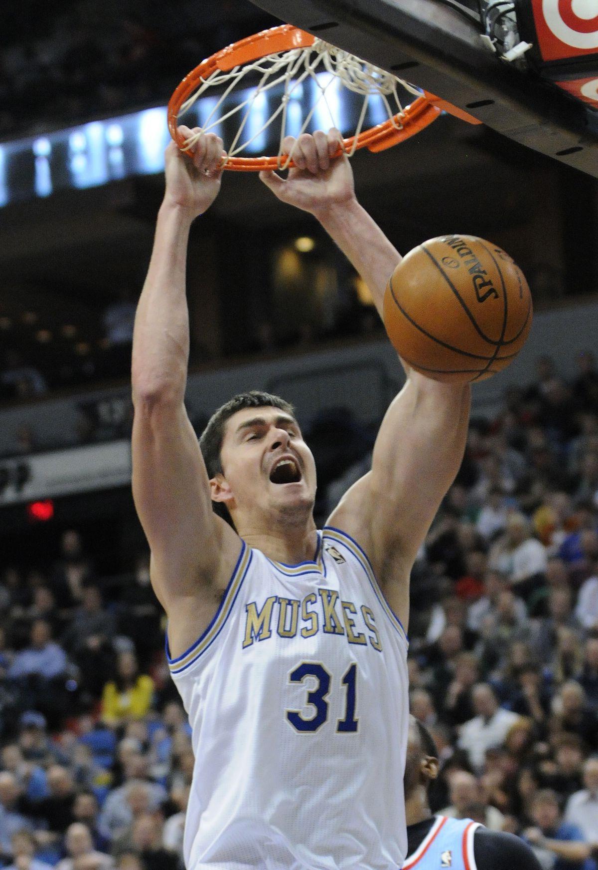 Darko Miličič počas pôsobenia v NBA v roku 2012.