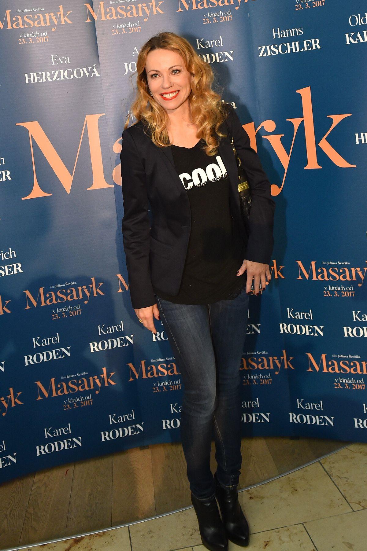 Diana Mórová na premiére filmu Masaryk.