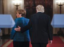 Trump, Donald Trump, Angela Merkelová, Merkel,