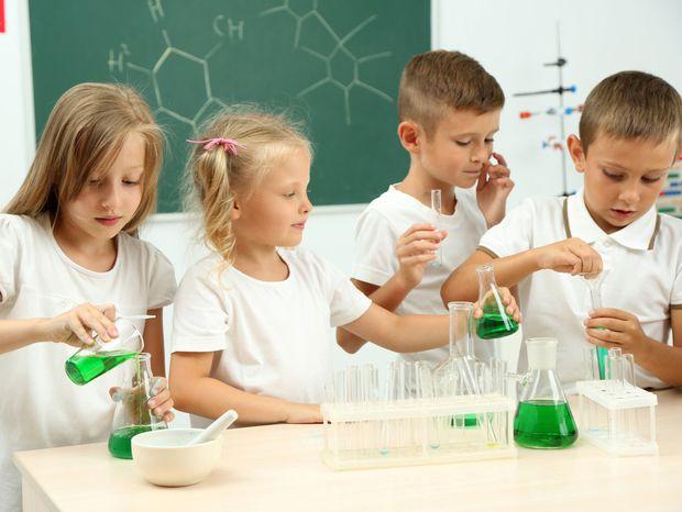 chémia, škola, študenti, vyučovanie, laboratorium