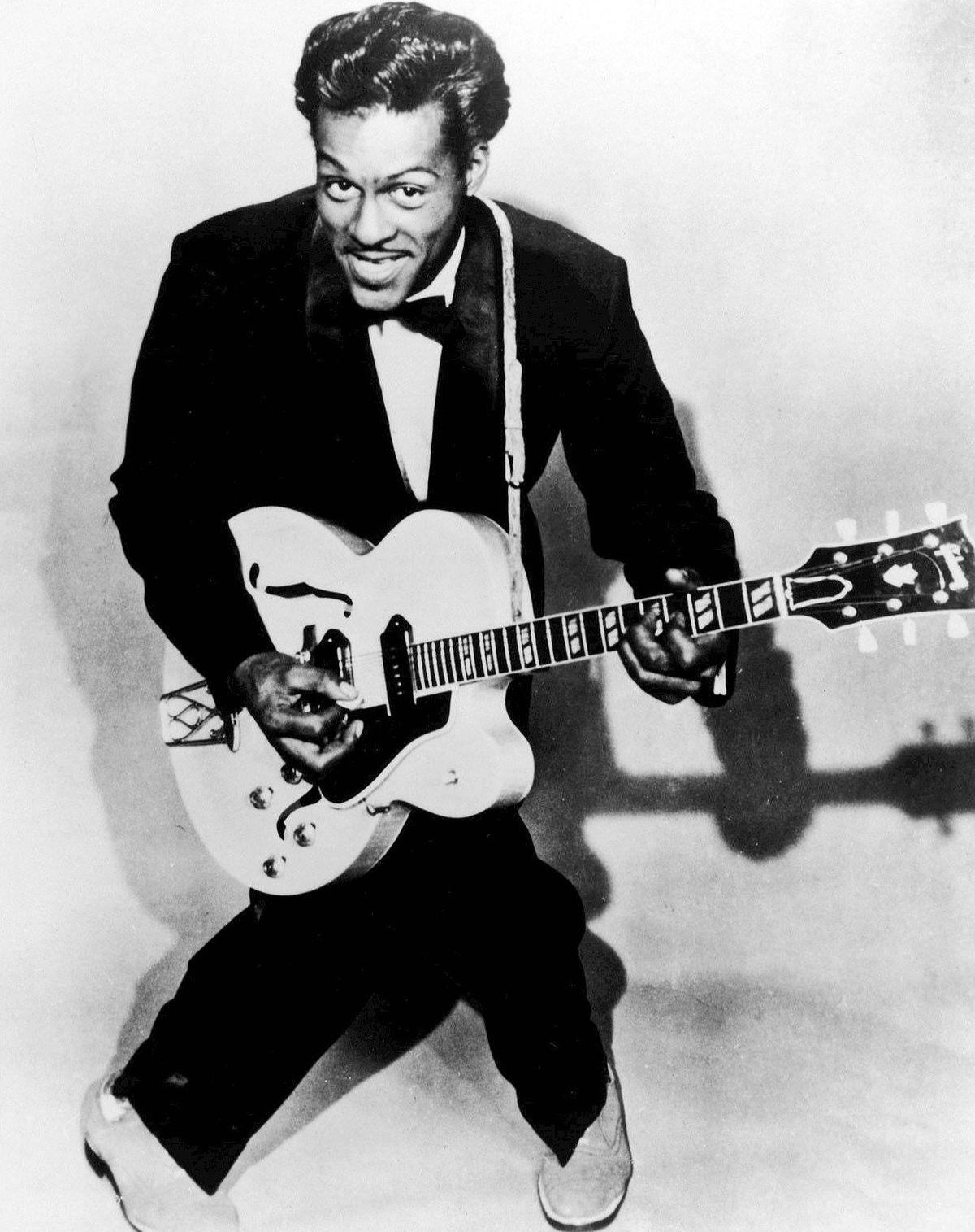 Chuck Berry v časoch svojej najväčšej slávy koncom 50. rokov minulého storočia.