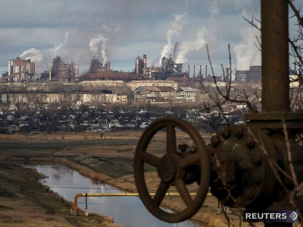 Mariupol, oceliareň, továreň, Ukrajina