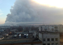 dym, požiar, Ukrajina