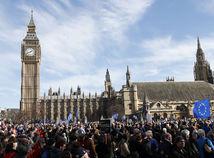 londýn, brexit, protest