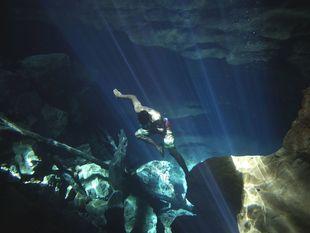 potápač, voda, plávanie, potápanie