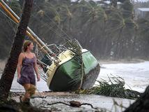 jachta, cyklón