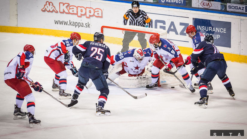 141eab3877e54 Slovan siahal na ľade CSKA minimálne na bod. Favorit udrel 12 sekúnd ...