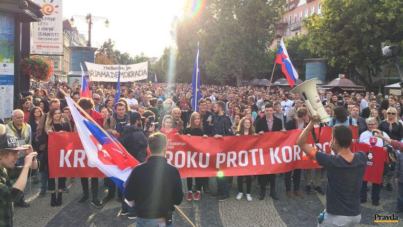 Tretí protikorupčný pochod sa skončil. Študenti žiadali vyšetriť kauzy - Domáce - Správy - Pravda.sk