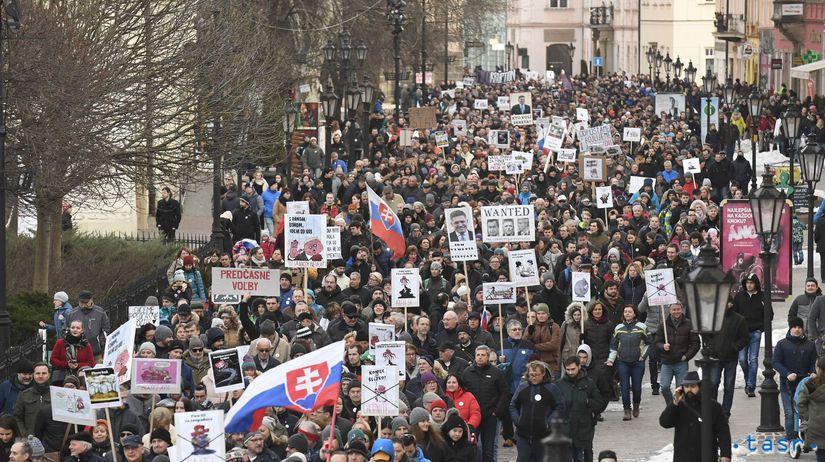 483e067b0 Bratislava, Košice, Žilina, Banská Bystrica, Prešov. Protestovalo sa po  celom Slovensku - Domáce - Správy - Pravda.sk