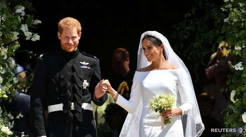 f912567fd02f Meghan Markle a Princ Harry spoločne po... Meghan Markle a Princ Harry  spoločne po svadobnom obrade na hrade Windsor.
