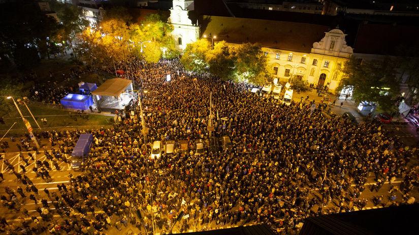 Tisícky ľudí žiadali slušné Slovensko.
