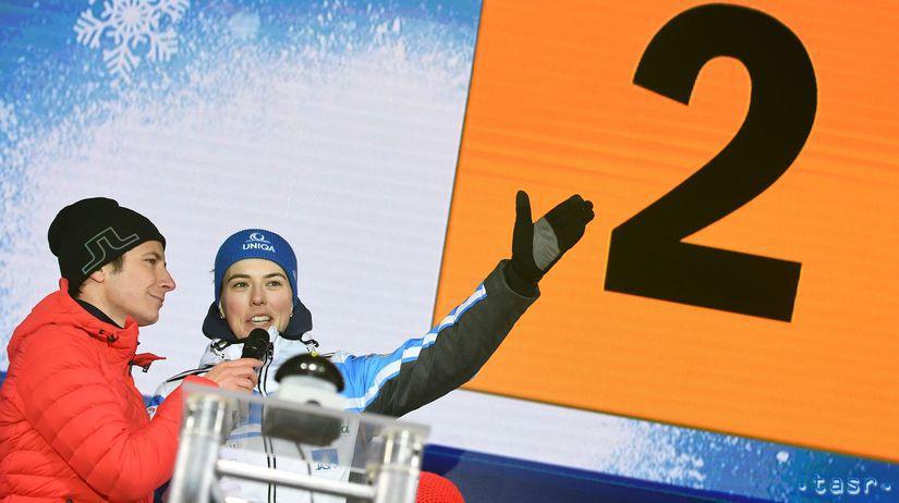 3a1a56171 Na snímke slovenská lyžiarka Petra Vlhová počas žrebovania pred utorňajším  nočným slalomom Svetového pohára v alpskom lyžovaní žien v rakúskom Flachau.