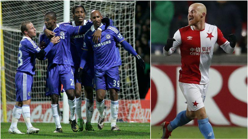 1330696daec23 Miroslav Stoch vľavo v drese Chelsea v roku 2009 so spoluhráčmi Nicolasom  Anelkom, Salomonom Kalouom a Didierom Drogbom a vpravo v súčasnosti ako  hráč ...