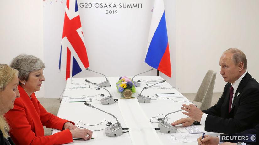Putin a Mayová sa zišli, prvýkrát od aféry okolo otravy Skripaľa - Svet - Správy - Pravda.sk