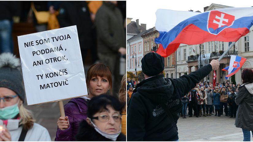Protivládny protest v Košiciach bol pokojný - Regióny - Správy - Pravda.sk