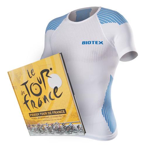 b12d156795318 Biotex funkčné tričko + kniha Príbeh Tour de France