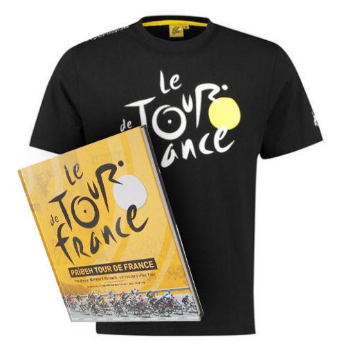 1eb7fade64973 Čierne tričko Tour de France + kniha Príbeh Tour de France
