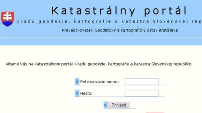 Katastrálny portál web