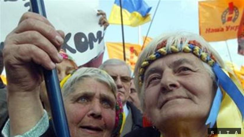Prívrženkyne Julie Tymošenkovej.