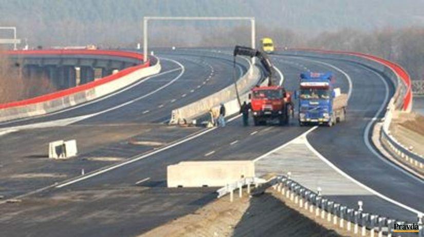 Výstavba diaľnice pri Žiline