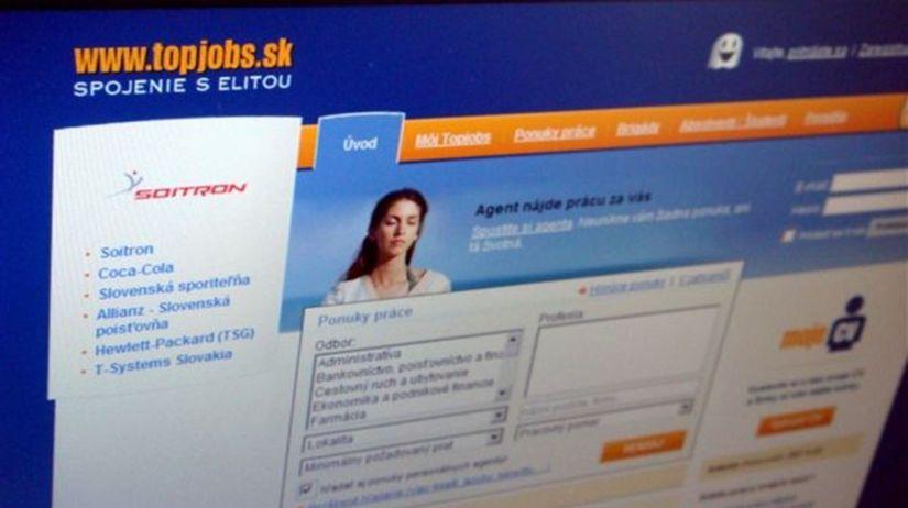 Stránka www.topjobs.sk