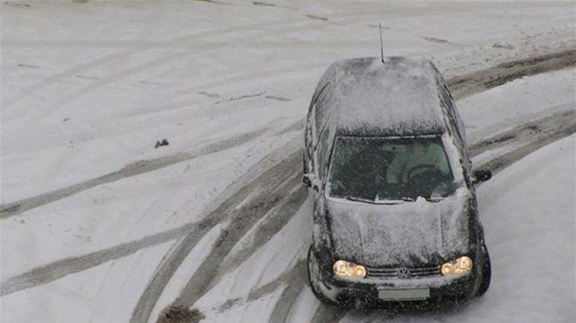 zima, sneh, auto, kalamita, kolaps