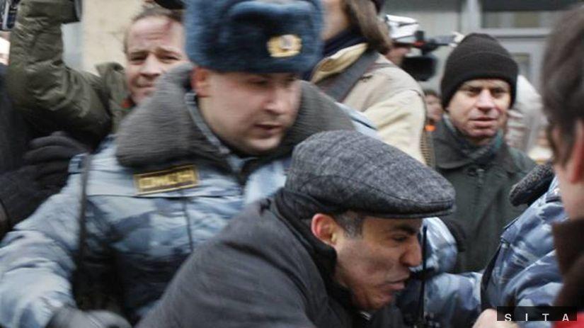 Protest opozície v Moskve