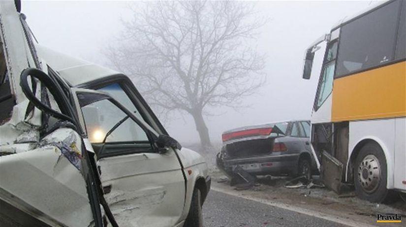 Reťazová havária pri Komjaticiach.