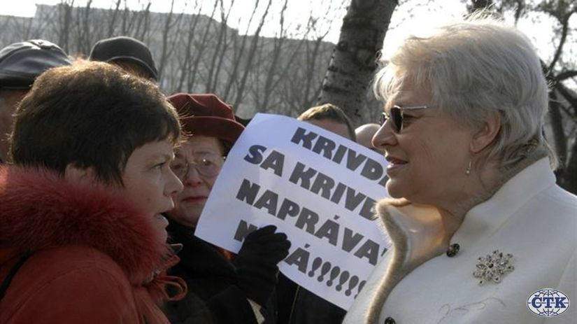 Protest nájomcov reštituovaných bytov