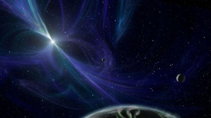 Pulzar, planéty, vesmír