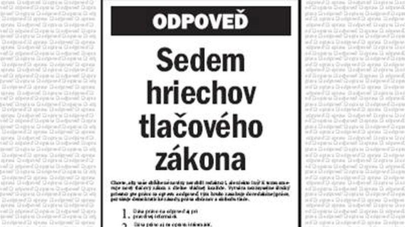 Vydavatelia slovenskej tlače odmietajú vládny...