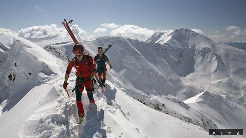 Татры, зима, снег, лыжник, катание на лыжах, лыжный альпинист