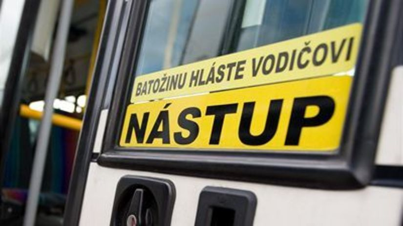 Autobus, nástup, cesta, zamestnanie